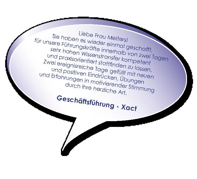 Testimonial der Xact zum Führungskräfte Coaching mit Melters und Partner