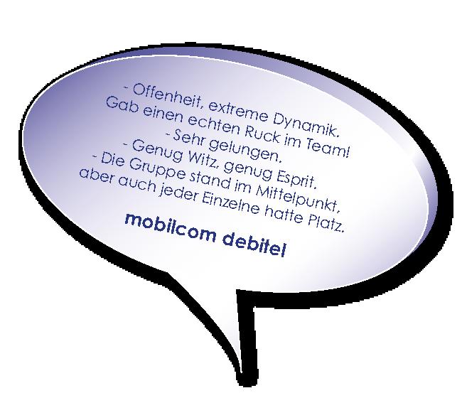 Testimonial von mobilcom debitel zum Führungskräfte Training mit Melters und Partner
