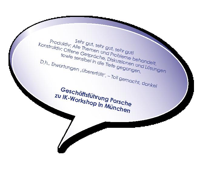 Testimonial von Porsche zum Workshop Interne Unternehmenskommunikation mit Melters und Partner