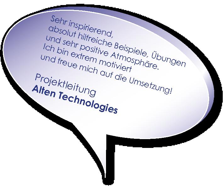 Testimonial von alten TEchnologies zum Training Projektmarlketing mit Melters und Partner