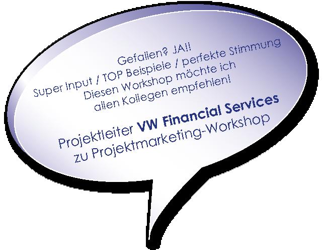 Testimonial der Volkswagen Aktiengesellschaft zum Training Projektmarketing mit Melters und Partner