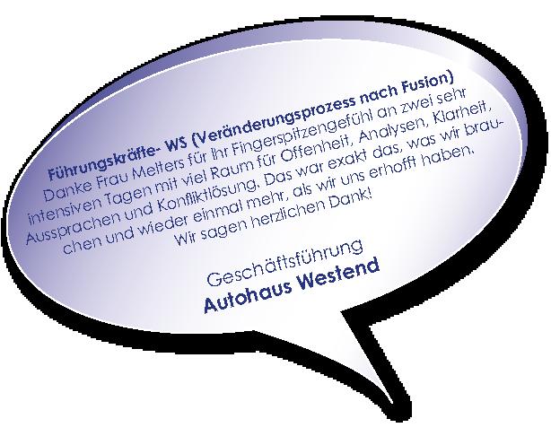 Testimonial Autohaus Westend zu Workshop Schwierige Unternehmenssituation mit Melters und Partner