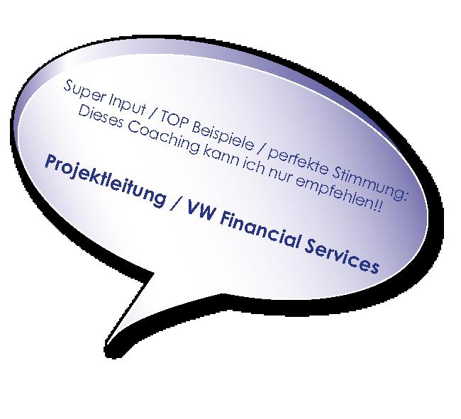 Testimonial von Volkswagen Financial Services zum Coaching mit Melters und Partner
