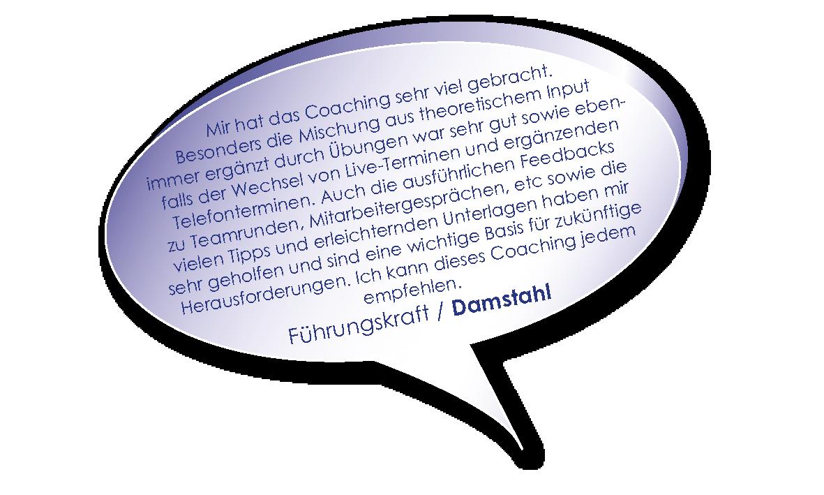 Testimonial Führungskraft von Damstahl zu Coaching Die erfolgreiche Führungskraft heute mit Melters und Partner