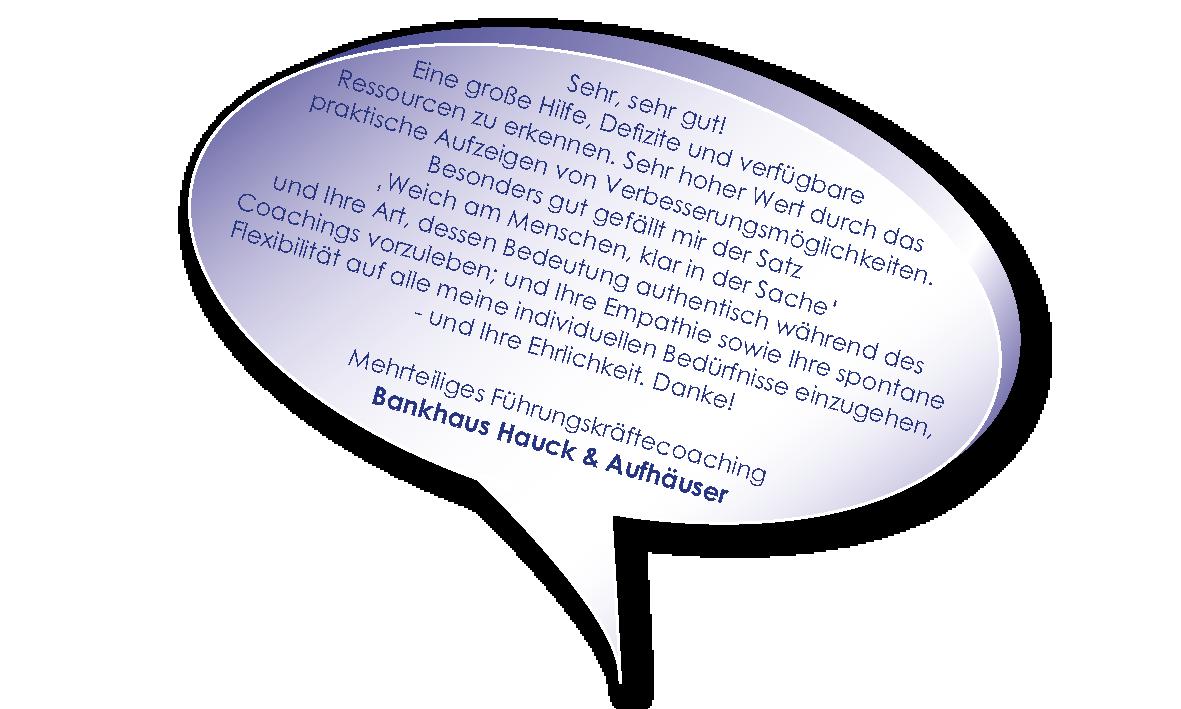 Testimonial Hauck und Aufhäuser zu Coaching für die erfolgreiche Führungskraft heute mit Melters und Partner