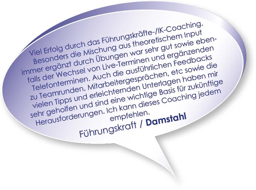 Testimonial von Damstahl zum Coaching Interne Kommunikation mit Melters und Partner
