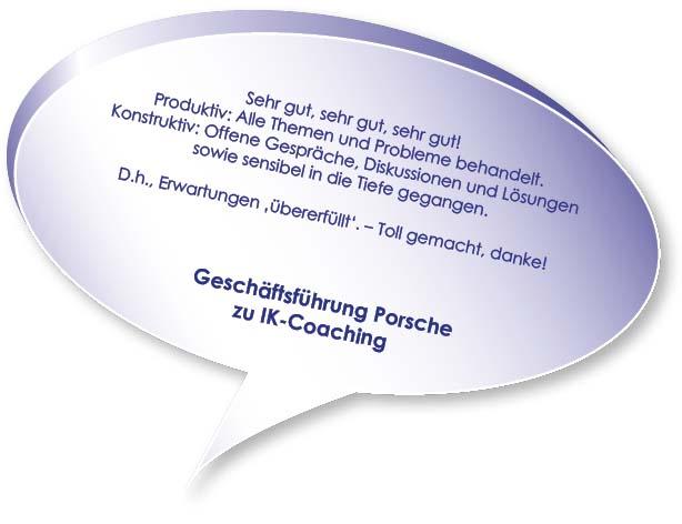 Testimonial von Porsche zum Coaching Interne Kommunikation mit Melters und Partner