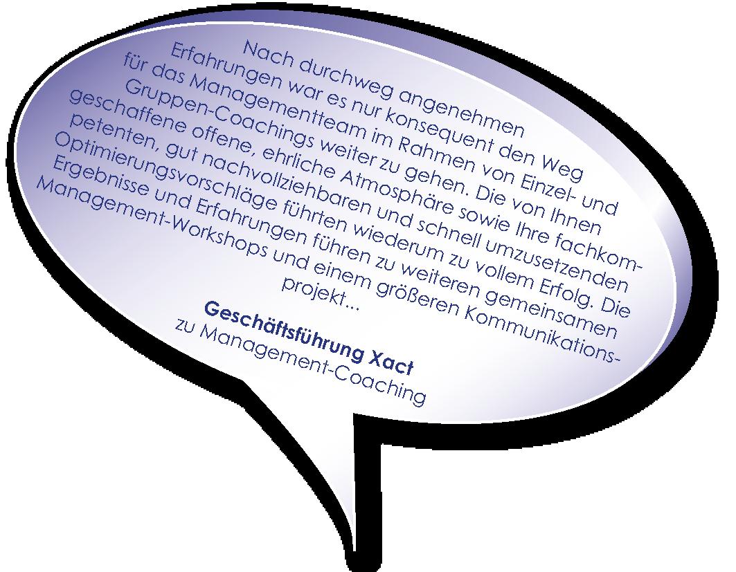 Testimonial der Xact Geschäftsführung zum Management-Coaching mit Melters und Partner