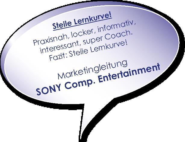 Testimonial von Sony zum Marketingcoaching mit Melters und Partner