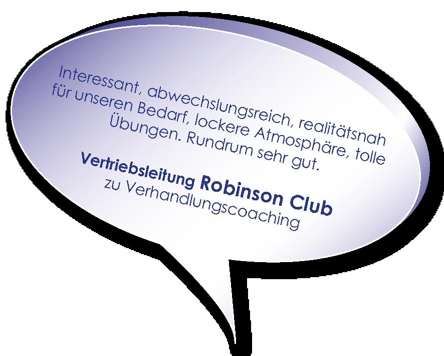 Testimonial der Vertriebsleitung Robinson Club zum Verhandlungscoaching mit Melters und Partner
