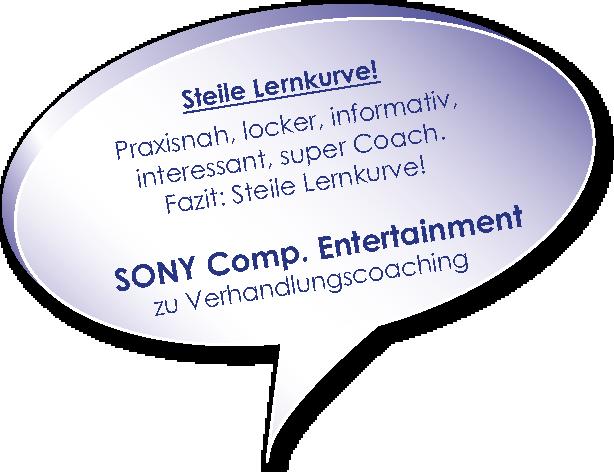 Testimonial von Sony zum Verhandlungscoaching mit Melters und Partner