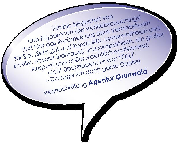 Testimonial von Agentur Grunwald zum Vertriebscoaching mit Melters und Partner