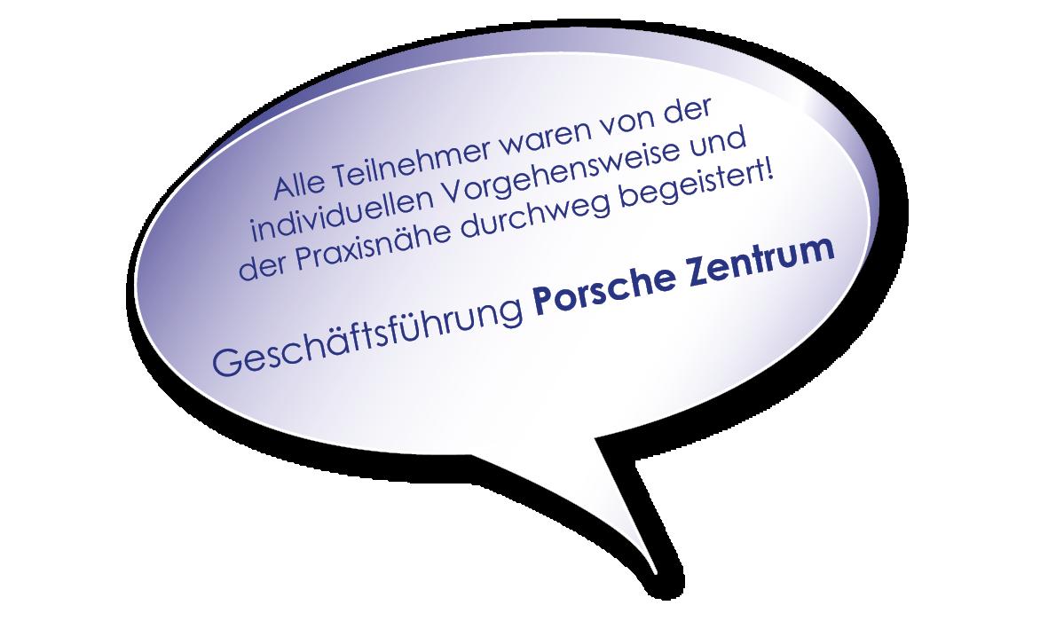 Testimonial von Porsche zum Hybrid-Kurs Verhandlungssicher im Business mit Melters und Partner