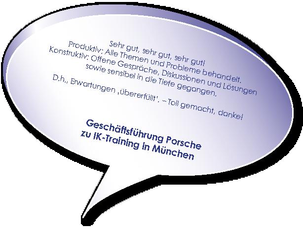 Testimonial von Porsche zu Training Interne Unternehmenskommunikation mit Melters und Partner