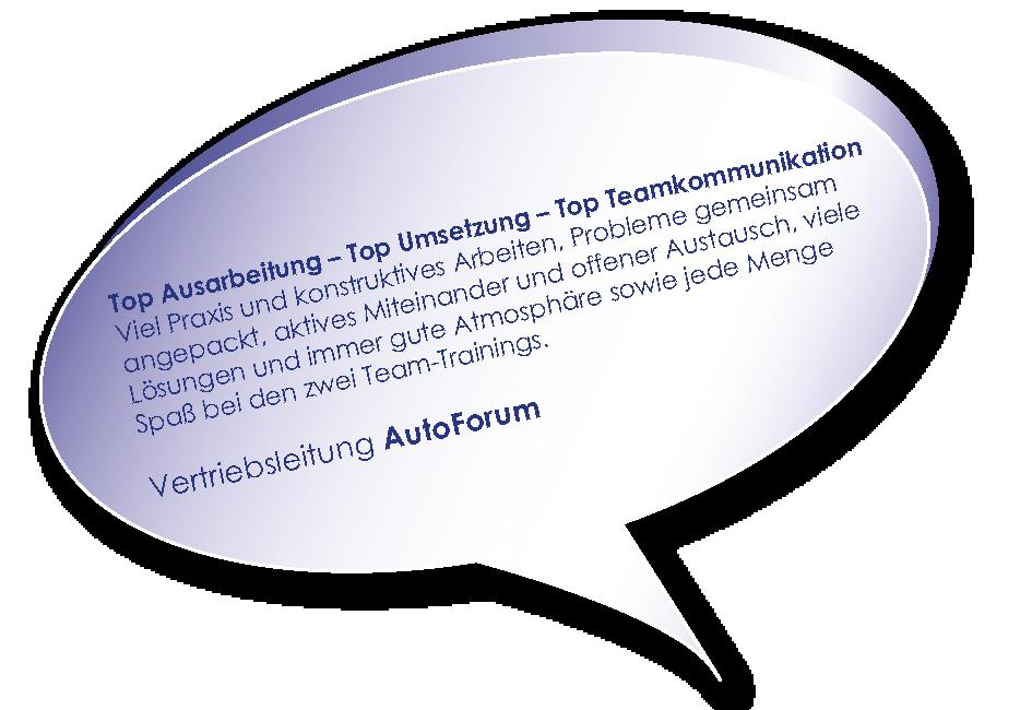 Testimonial vom AutoForum z um Training Teams stärken mit Melters und Partner