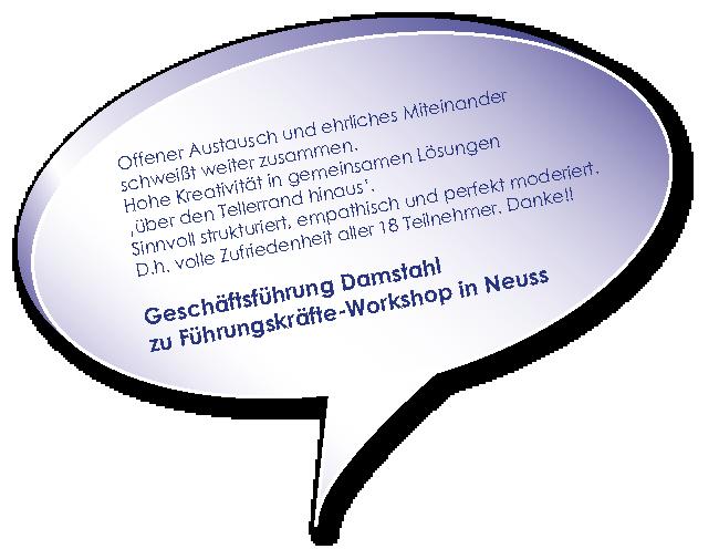Testimonial Damstahl zu Workshop Unternehmenszukunft sichern mit Melters und Partner