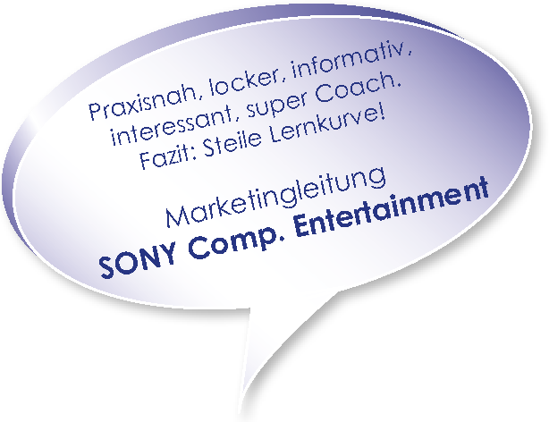 Testimonial von Sony zum workshop Marketingplanung mit Melters und Partner
