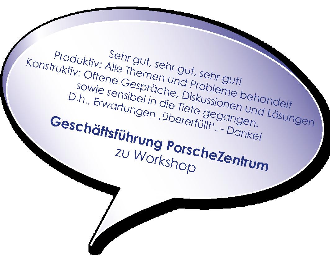Testimonial der Geschäftsführung des Porsche Zentrums zum workshop schwierige Unternehmenssituationen meistern mit Melters und Partner